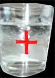 Glas für Wasser